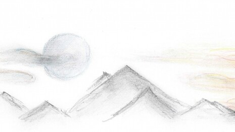 mondaufgang_sonnenuntergang_Zeichnung Dunja Morge