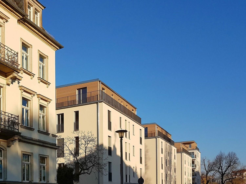 Holz Palais Dresden: Ansicht Erna-Berger-Straße