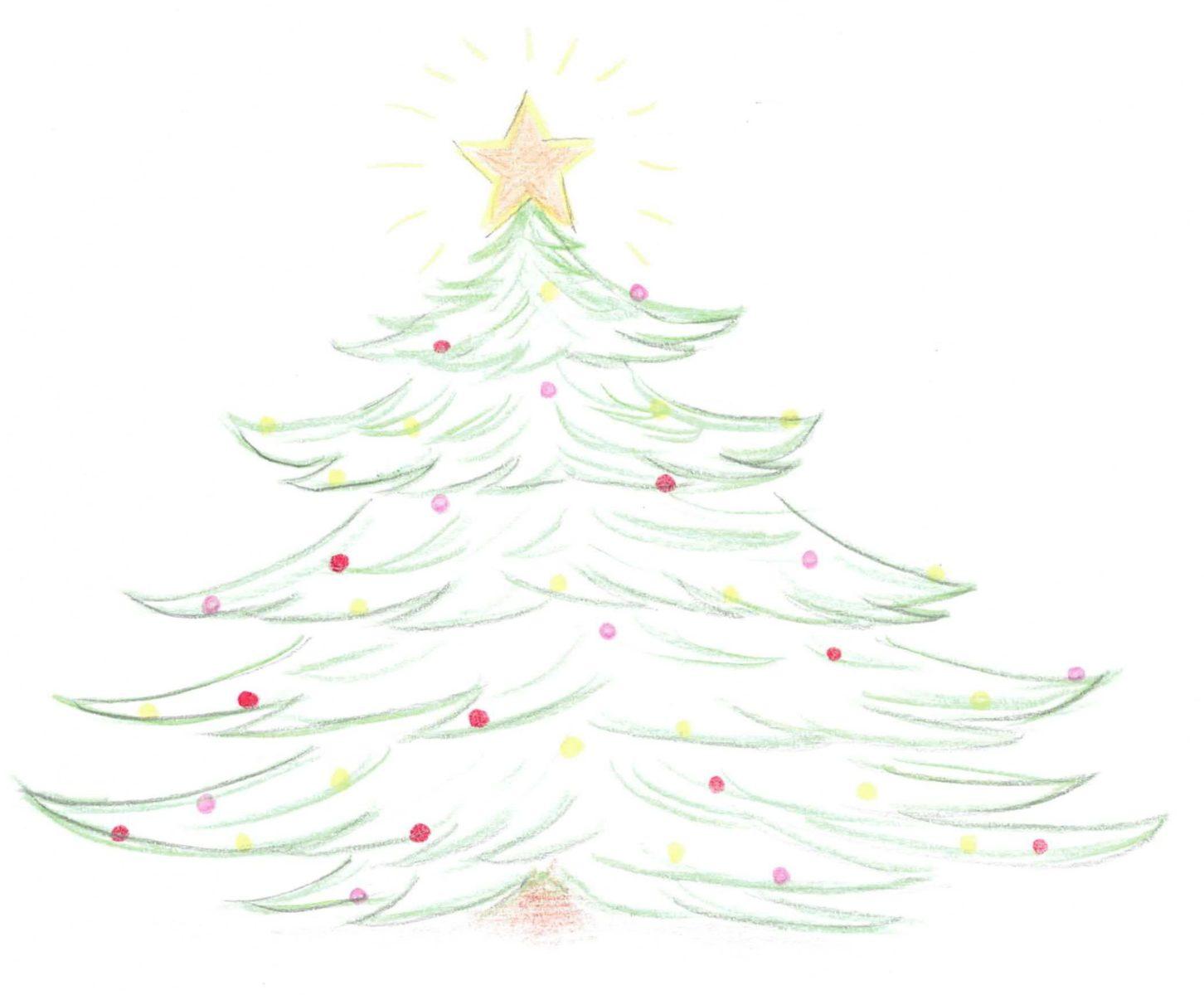 Weihnachtsbaum (Zeichnung: Dunja Morge)