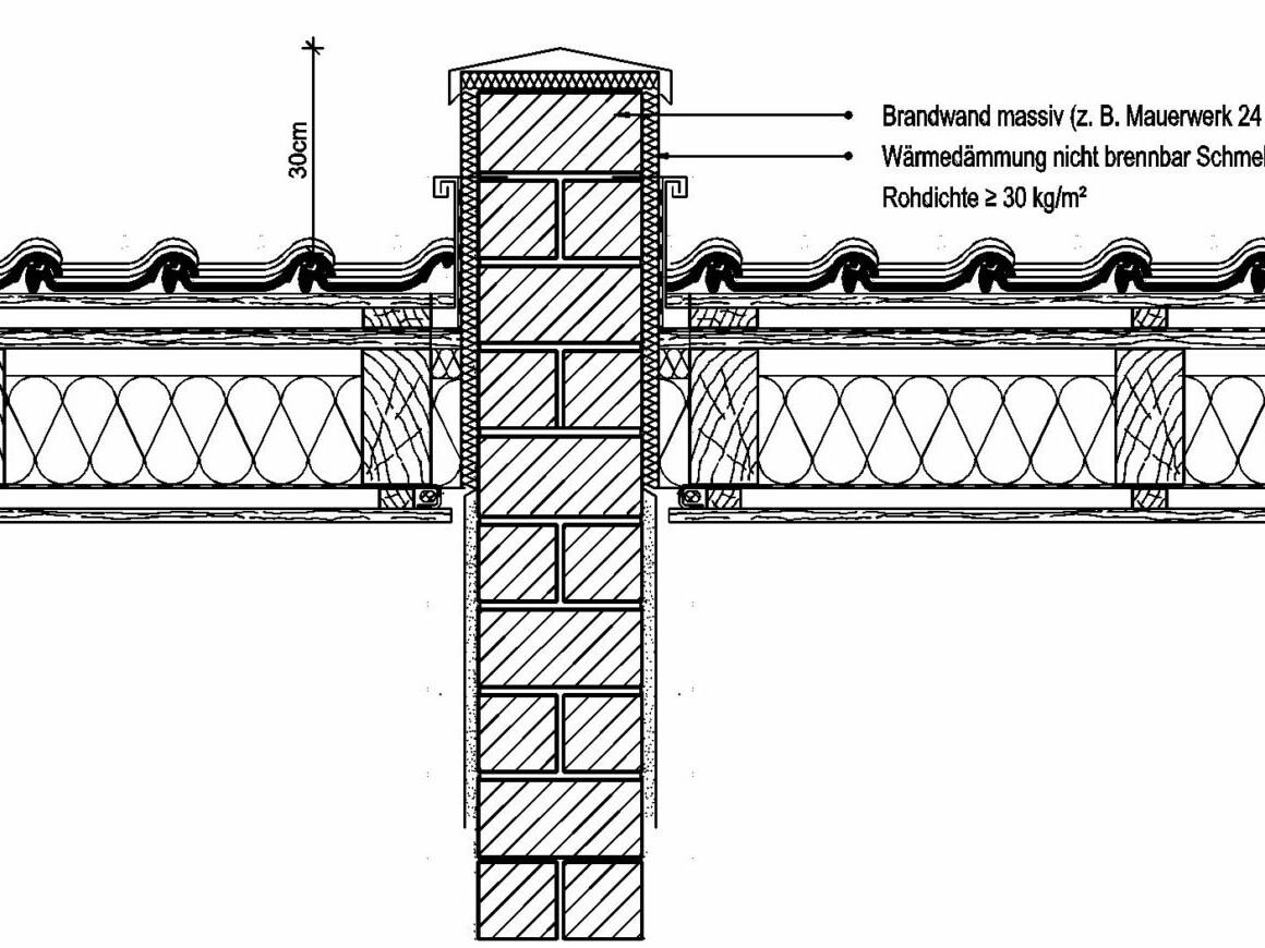 brandwand__berdach_Brandwand über Dach geführt Zeichnung_Reinhard Eberl-Pacan