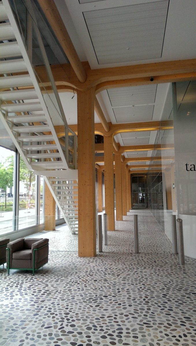Glas und Holz bestimmen den Bau Foto_ neubau Temedia_Zürich_Schweiz_Reinhard Eberl-Pacan