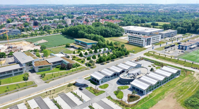 IT-Campus Paderborn_Luftbild Umgebung_Tag