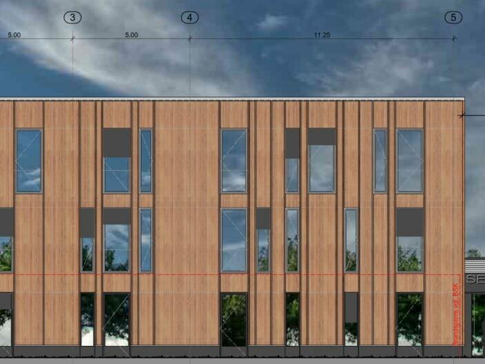 Senckenberg Deutsches Entomologisches Institut_SDEI_Zeichnung Ansicht_Architekturbüro PASD Feldmeier Wrede Architekten BDA Stadtplaner SRL