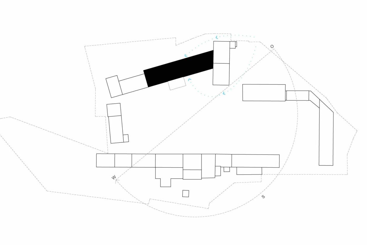Hof Prädiko_Kuhstall_Lageplan_Quelle-Hütten & Paläste