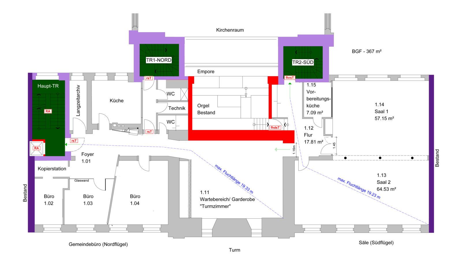 ev-KG Zum Heilsbronnen_Berlin Schöneberg_Brandschutzvisualisierung_eberl-Pacan gesellschaft von Architekten