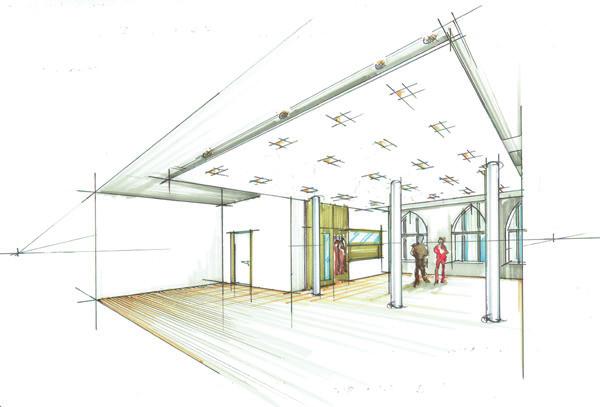 ev-KG Zum Heilsbronnen_Berlin Schöneberg_Entwurfskizze innen_Zeichnung BvdM Architekten
