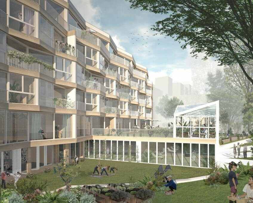 Ahorngarten_Perspektive Hof_2021_HS Architekten