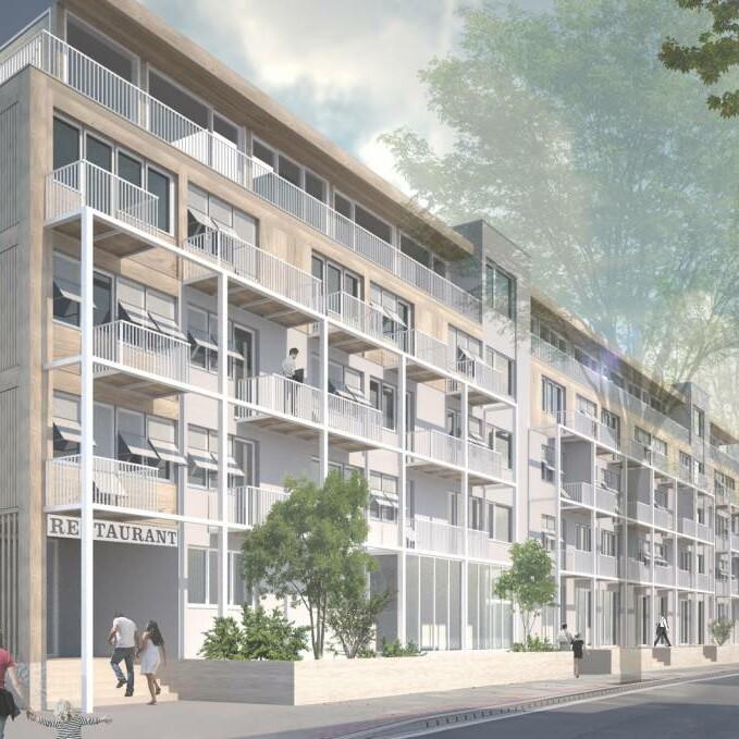Ahorngarten_Perspektive Straße_2021_HS Architekten